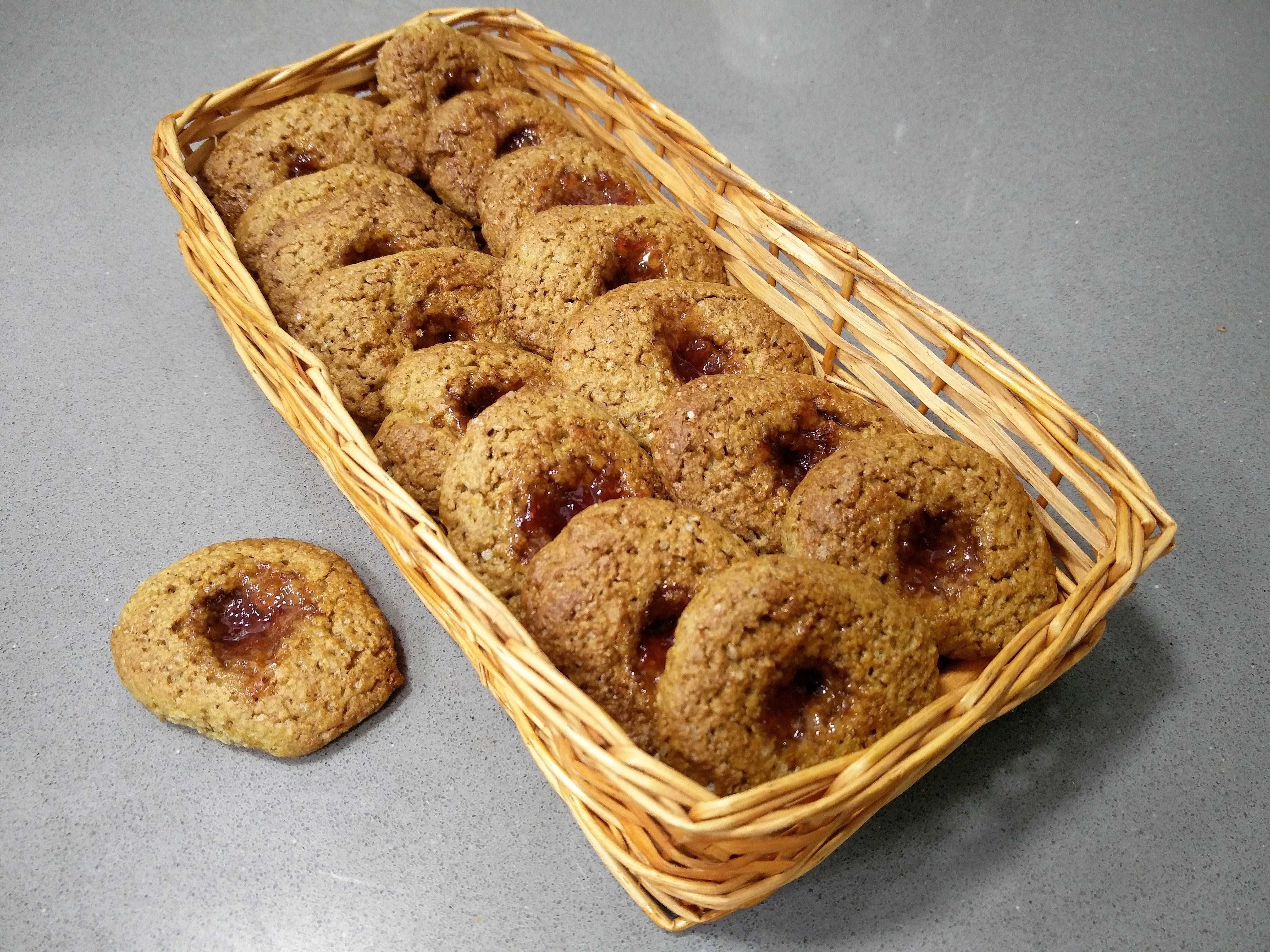 Galletas integrales con mermelada