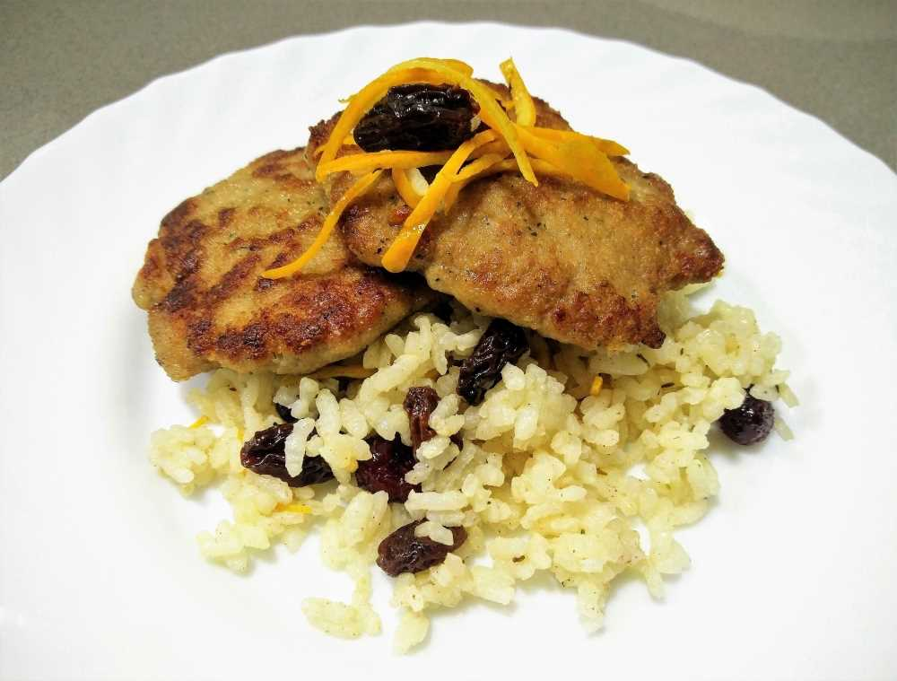 Filete ruso con arroz dulce